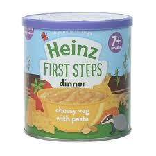 Bột ăn dặm Heinz vị mỳ ý rau phô mai lon mới 200g (cho bé > 7 tháng) - Kids  Plaza