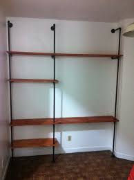 plumbing pipe shelving wall unit easy diy