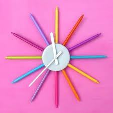 Telling Time Teaching Clock Kids Room Playroom Analog Silent Wall Clock Kids Room Wall Clocks Wanderinc Co