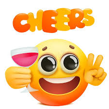 cheers emoticon card with yellow emoji
