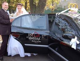 Wedding Just Married Vinyl Car Decal Personalized Sticker