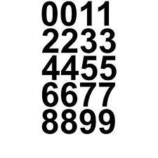 Sheet Of 1 1 2 Inch Black Numbers Vinyl Custom Street Address Mailbox Decal Stickers Kit Walmart Com Walmart Com