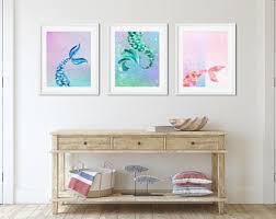 Mermaid Decor For Girls Room Etsy