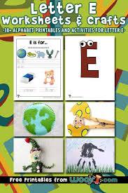 letter e worksheets crafts woo jr