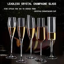 hand blown crystal wine glasses oblique