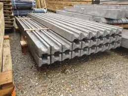 Concrete Slotted Fence Posts 6ft 8ft 9ft Select Size Steel Reinforced Afsvfp Fr