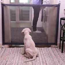 Portable Folding Safe Enclosure 180 X 72cm Indoor Safety Gates For Dogs Baby Safety Fence Black