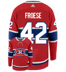 Byron Froese Montreal Canadiens Adidas Authentic Home NHL Hockey Jersey
