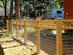 Wire Fence Topped With Lattice Fence Planning Fence Options Front Yard Fence