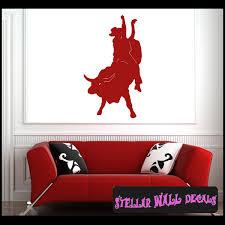 Bull Riding Cowboy Rodeo Sport Vinyl Wall Decal Wall Sticker Car Sticker Rodeost005 Swd