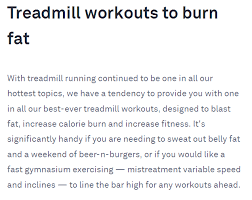 specialise your treadmill workout