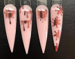 Queen Of Decals Rose Gold Lips And Drips Vinyl Stickers Glitter Arty Nails