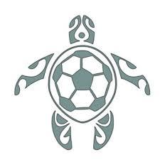 Soccer Turtle Window Sticker Bk Sports