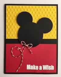 Hecho A Mano En Relieve Mickey Mouse Tarjeta De Cumpleanos