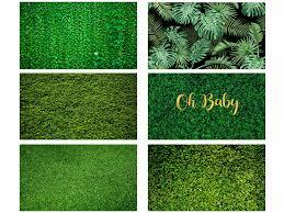 Mehofoto العشب شاشة خضراء أوراق الشجر يترك ديكور حفلات التصوير