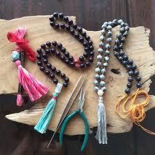 gemstone bead knotting tel necklace