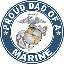 Proud Dad Of A Marine U S Marine Corps Round Decal