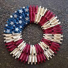 double flag clothespin wreath wreath