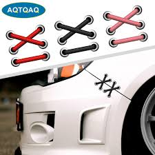 1pcs Car Decal Car Sticker Removable Parallel Cross Shoelaces Sticker Auto Refit Cars Reflective Car Sticker Car Stickers Aliexpress