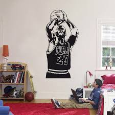 Removable Wall Art Nba Wall Decor Nba Decals Basketball Art Kids Room Sports Fan Art Nba Stickers Sports Wall Art Jordan Decals Wall Decals Murals Home Living