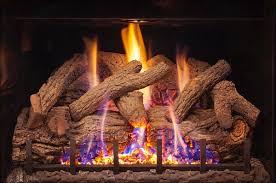 real fyre charred rustic oak log set