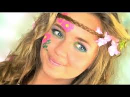 hippie hair makeup tutorial in under