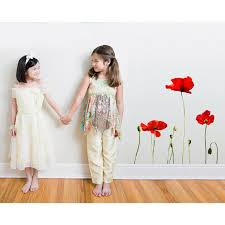 Giant Poppies Wall Decal Set By Inkwood Impressions On Zibbet