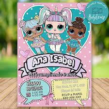 Invitacion De Cumpleanos De Lol Surprise Dolls Para Imprimir