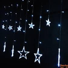 DD232 Dàn đèn LED trang trí hình ngôi sao lung linh, nhiều màu sắc