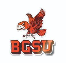 Bowling Green State Falcons Vintage Logo Car Decal Bumper Sticker Nudge Printing