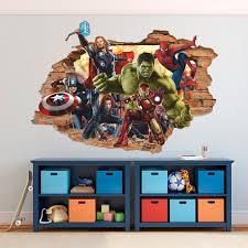 Marvel Heroes 3d Wall Decal Cartoon Wall Sticker Removable Etsy In 2020 Cartoon Wall 3d Wall Decals Kids Wall Murals