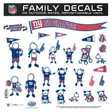 New York Giants 11 X11 Family Car Decal Sheet Detroit Game Gear