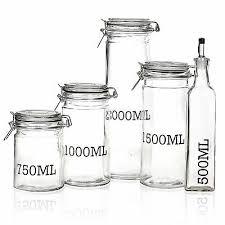 storage jar with metal clamp lid tall