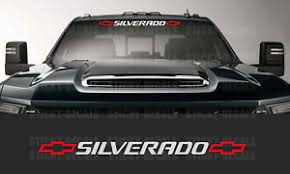 Silverado 2 Color Front Windshield Banner Decal Sticker 36 Chevy Chevrolet Ebay
