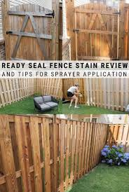 Ready Seal Fence Stain Review And Tips For Sprayer Application In 2020 Exterior Wood Stain Staining Deck Fence Stain