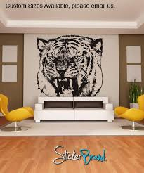 Vinyl Wall Decal Sticker Angry Tiger 790 Stickerbrand