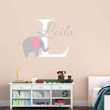 Elephant Bubbles Nursery Wall Decal Custom Name Baby Room Decor Children Bedroom Decoration Vinyl Wall Stickers Art Murals J80 Vinyl Wall Stickers Name Wall Stickerswall Sticker Aliexpress