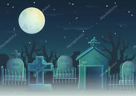 A Collection Of Items Spooky Graveyard Items And Design Elements For Game And App Design Gravestone Cross Full Moon Cemetry Fence Crypt Premium Vector In Adobe Illustrator Ai Ai