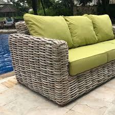 rattan 3 seater garden sofa poole