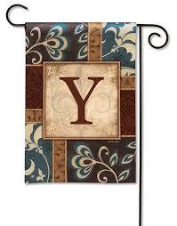 elegance monogram u garden flag