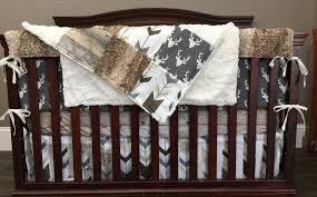 baby boy crib bedding dark gray buck