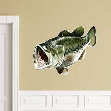 Largemouth Bass Wall Decal Peel And Stick Fish Sticker Bass Wall Art Fishing For Sale Online