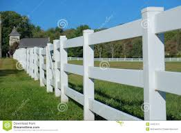 White Rail Fence Stock Image Image Of Sunny Scenic 34407513