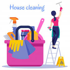 Premium Vector | House cleaning. cleaning service flat illustration.