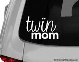Twin Mom White Vinyl Car Decal Got Twins Mother Of Twins Mom Of Twins Twins Baby Gift Twin Baby Gifts Triplet Baby Gift Car Decals Vinyl
