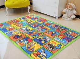 Abc Alphabet Kids Educational Rug Play Mat For Playroom Boys Room Girls Room Rug Ebay
