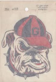 Vintage University Of Georgia Bulldogs Decal Sticker And Uga Alumni Print