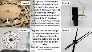 size clock movements and hands