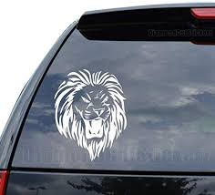 Amazon Com Tribal Art Lion Roar Decal Sticker Car Truck Motorcycle Window Ipad Laptop Wall Decor Size 05 Inch 13 Cm Tall Color Matte White Home Kitchen