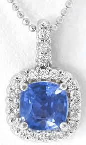 ceylon sapphire and diamond pendant